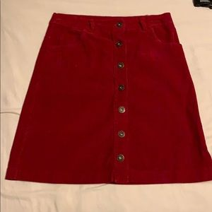 Red Corduroy skirt from Spain